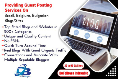 Provide you Guest Post on Brazil, Belgium and Bulgarian Sites