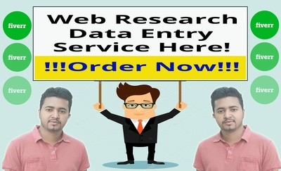 Do 1 hours of data entry or Web Research