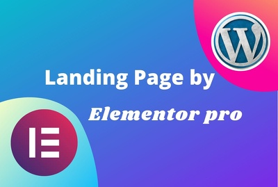 Create your landing page with elementor pro