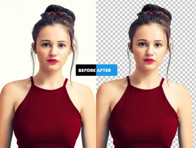 Professionally Make transparent background of 30 images