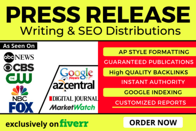 Do press release writing and distribution on 240 sites