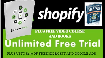 Free and unlimited trial shopify store to design plus 4 books