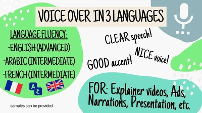 Do voice over in 3 languages!