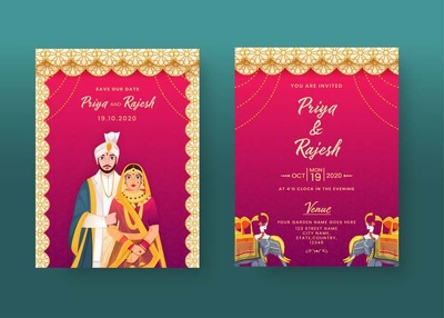 Design a customised invitation for your wedding and event