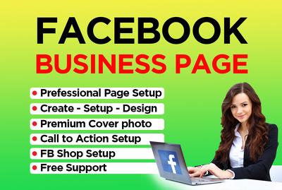 Create setup design Facebook Business Page Professionally
