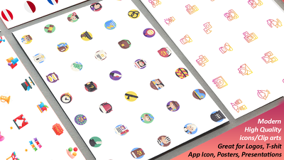 Design Set Of Icons / Cliparts For Commercial Utilization