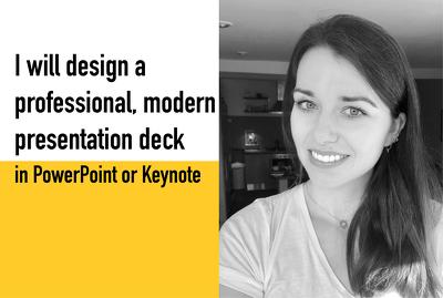 Design a professional, modern PowerPoint or Keynote presentation