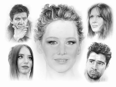 Draw you a realistic pencil portrait