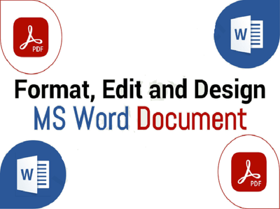 Format, design, edit microsoft ms word document and PDF