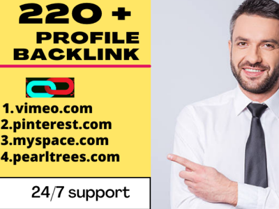Do 220 profile backlink in high authority da site
