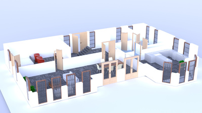 Convert 2D Floor Plan To 3D Floor Plan Fully Furnished