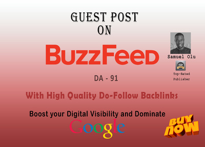 Guest Post on BuzzFeed (DA- 91) with Do-Follow Backlinks