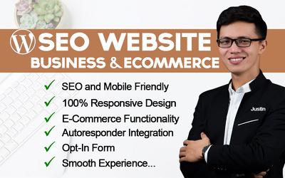 I will create a SEO friendly wordpress website, website design