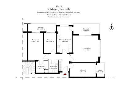Draw 2D Floor Plan (between 60m2-120m2)