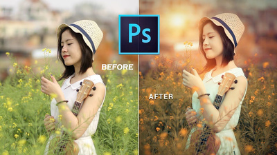 Photoshop and Lightroom retouching 5 images (color grading)