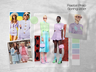 Design a Detailed Fashion Trend Mood Board & Color Palette