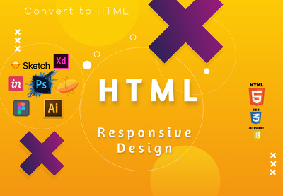 PSD, Sketch, XD, to HTML response Bootstrap 5