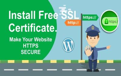 Install ssl certificate fix ssl and https on wordpress site