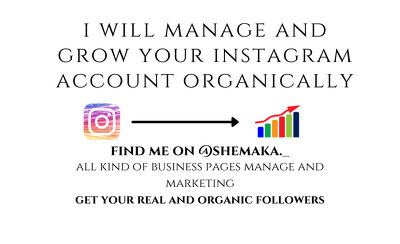 Do organic instagram growth and marketing