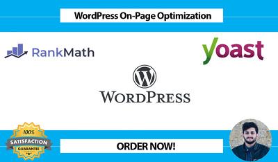 Do onpage optimization yoast SEO, rankmath for wordpress