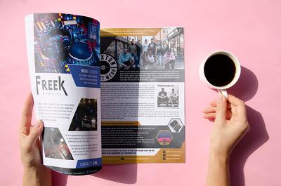 Creative and attractive magazine design