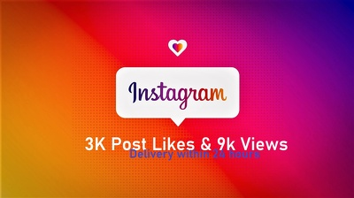 Promote Your Instagram Post or Video to Get 3k Like & 9k Views