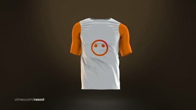 Create your 3D T-Shirt Walk Animation with your colors/Logo