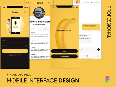 Design interactive mobile app UX UI