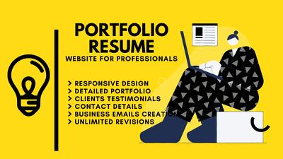 Digital Portfolio Resume For Professionals