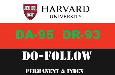 Guest post on my harvard edu university (harvard.edu) DA95 DR 93