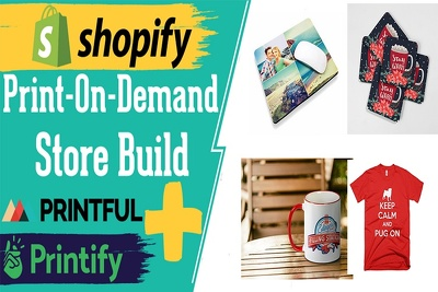 Build premium print on demand shopify dropshipping store