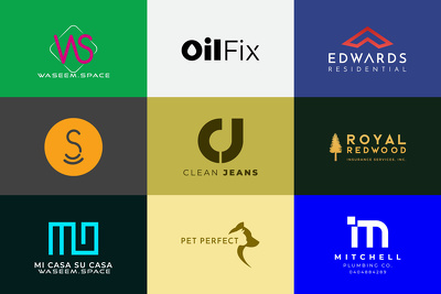 Design modern minimal and geometric logo with free source files