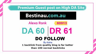 Guest Post on Bestinau com au. Bestinau.com.au DA60