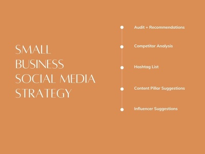 Create a social media strategy for your small business