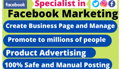 Your facebook marketing manager and promotion specialist