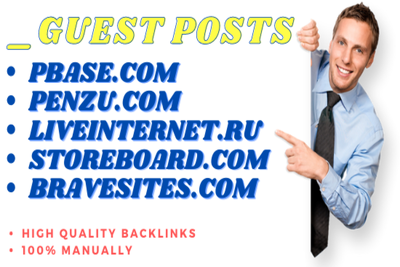 Write & Publish 5 Guest Posts Do-Follow and Manual Backlinks