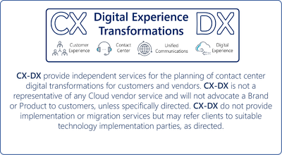 Provide expert consultations on CC / CX / DX / UC/ DT for 1 day
