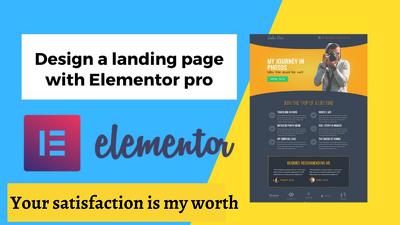 Design stunning elementor wordpress or elementor landing page