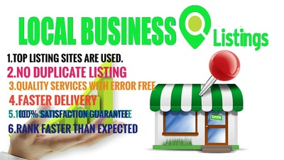 70 live Local Seo Citations For  USA or UK