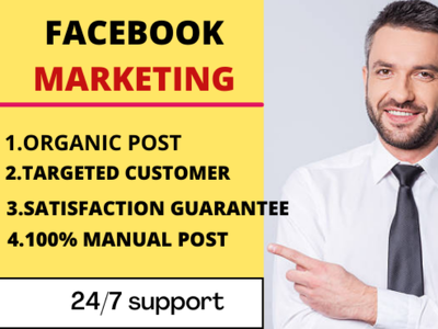 Do Facebook marketing for your product by fb group posting