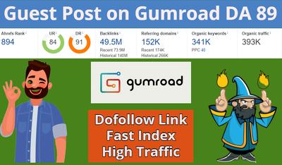 Premium Dofollow Guest post on DA 89 and Traffic 300k Blog