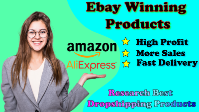 Give 20 profitable Items from Aliexpress, Amazon to Ebay