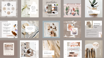 Create canva Instagram and Facebook templates
