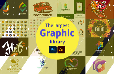 I will send you the largest professional graphic library in 2021