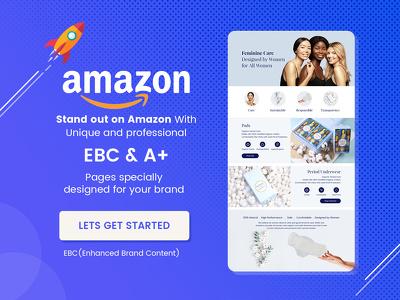 Design unique amazon EBC enhanced brand content a plus page