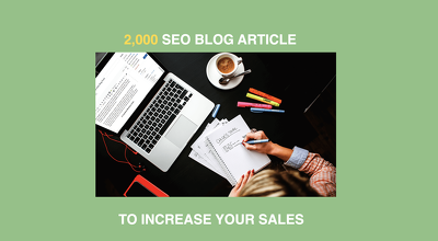 Write 2,000 word SEO article or blog post