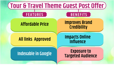 """10 Backlinks with Guest Blogging on """"Tour & Travel"""" Theme Websit"""