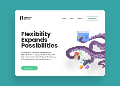 Redesign a landing page
