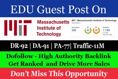 Guest Post on Massachusetts Institute of Technology mit.edu DA91