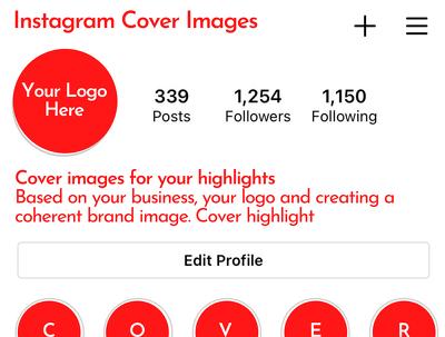 Design bespoke Instagram Cover Highlights
